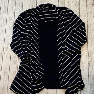 Croft & Barrow Layered Look Striped Top L